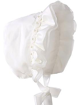 Hanakimi ® Flower Royal Gorro Handmade Christening White (Years) Newborn-3