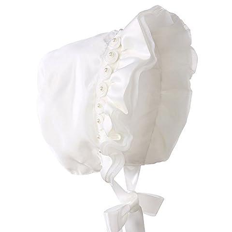 hanakimi® Fleur Bonnet de baptême royal fait à la main