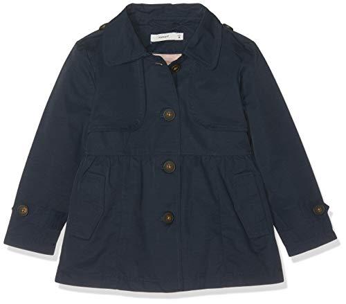 Name IT NOS Mädchen Mantel NMFMAI Trench Coat, Blau (Dark Sapphire), (Herstellergröße: 92)