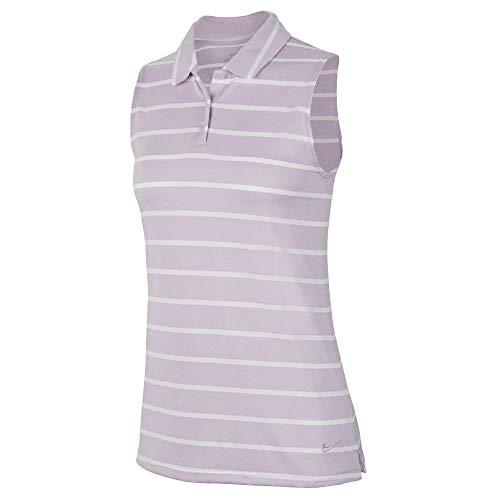 Nike Women's Dri-Fit Striped Sleeveless Polo -