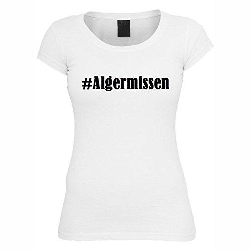 T-Shirt #Algermissen Hashtag Raute für Damen Herren und Kinder ... in den Farben Schwarz und Weiss Weiß