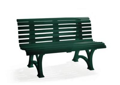 Parkbank aus Kunststoff – mit 13 Leisten – Breite 1500 mm, stahlblau – Bank Gartenbank Kunststoff-Bank Kunststoff-Bänke Ruhebank - 9