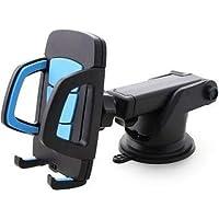DEWBERRIES Car Mobile Holder for Windshield, Dashboard (Large-Blue)