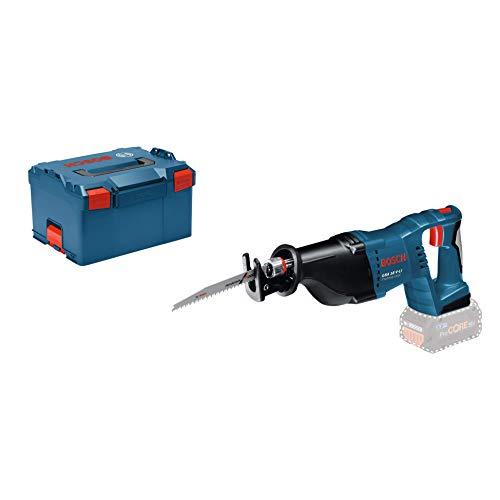 Bosch Professional GSA 18 V-LI Akku-Säbelsäge, Hublänge 28 mm, 3,4 kg, Solo Version, L-BOXX, 1 Stück, 060164J007