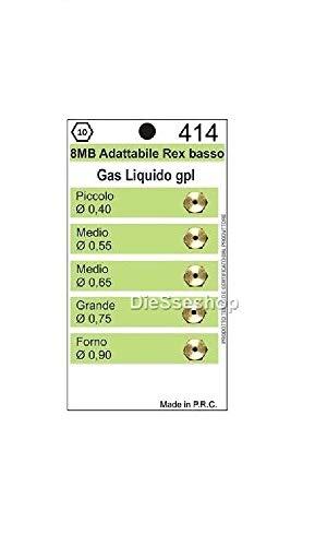 7 CHIAVE A TUBO N 6 UGELLI INIETTORI  A GAS METANO  CUCINE GAS PIANI COTTURA