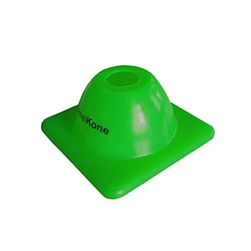 KamelKone Agility Training & Motorradkegel für Sport & Kinder | Set von 12 Premium grünen Kunststoffkegeln für Fahrräder, Verkehr und Fußball (grün) -
