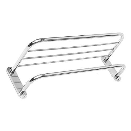 Niya Soft Steel Chrome Polished Bathroom Wall Mounted Towel Rail Holder Shelf Storage Rack -