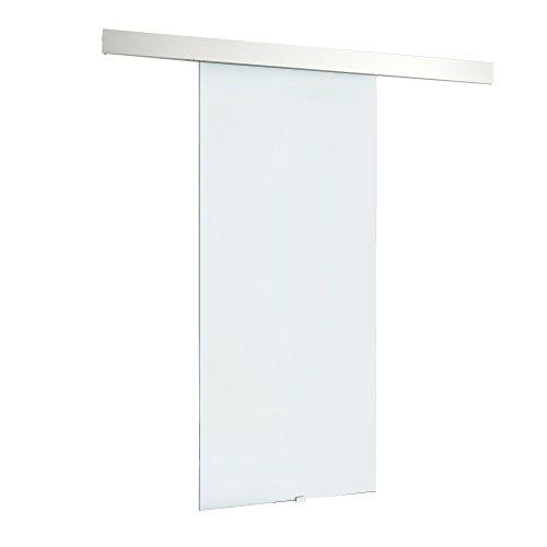 HomCom® Puerta Corredera Cristal Puertas de Interior Puerta de Granero 75x210cm