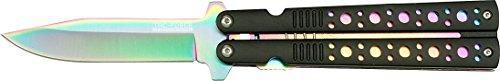 Tac Force Taschenmesser Schwarz/Rainbow Liner, Klingenlänge: 7,6cm, TAFO-1071