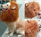 Zantec Haustier Kostüm Lion Mähne Perücke mit Ohren für Hund Katze Halloween Kleidung Fancy Dress up (Hellbraun, (Kostüme Dallas Uniform Cowboy)
