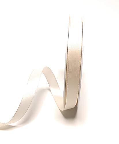 15 Creme (Konrad Arnold Dekoband 50m x 15mm Creme - Elfenbein Taftband Geschenkband Schleifenband)
