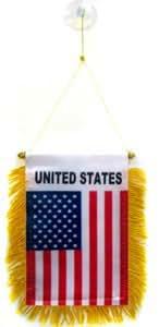 FANION ETATS-UNIS 15x10cm - Mini drapeau AMÉRICAIN - USA 10 x 15 cm spécial voiture - Bannière - AZ FLAG