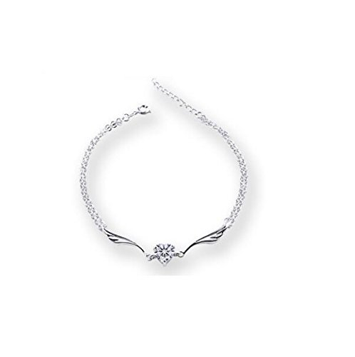 DUlijun 925 in argento sterling signore cuore