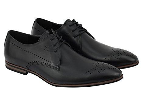 new product 7d76e 89908 ... Tamaño 7 Nueve Uk 6 Jusquderby Marrón 11 8 10 Cuero Vestido De De  Zapatos Elegante ...