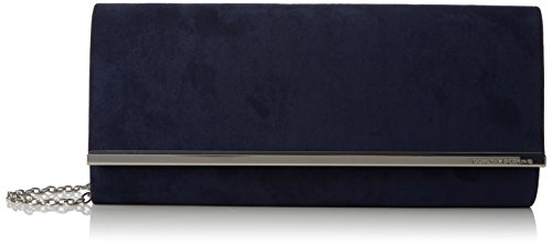 Clutch Dorothy Perkins Damen Large Strutturata, 6x13x30 Centimetri Blau (navy)