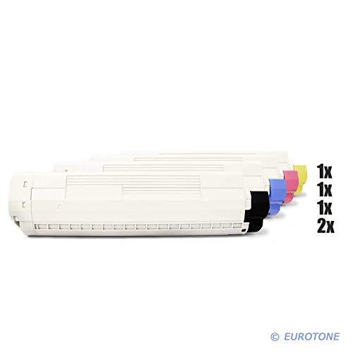 C830 Magenta Toner (5X Müller Printware Toner für Oki C 810 830 CDTN DN N DTN ersetzt 44059105-44059108)