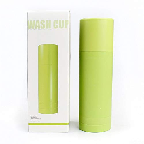 erhuo Reise-Toilettenartikel, kreativ, multifunktional Reisen, waschen, Tasse, Zahnbürste, grün