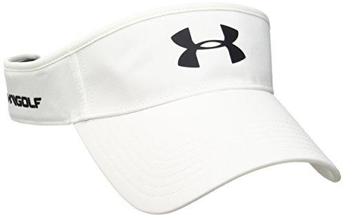 Under Armour Herren Core Golf Visor Kappe, White, OSFA