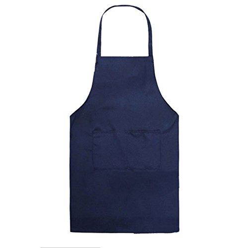 Dosige 1 x Kinder Schürze Kochschürze Kinderschürze Latzschürze Gastronomie Kinder Küchenschürze Grillschürze (schwarz)