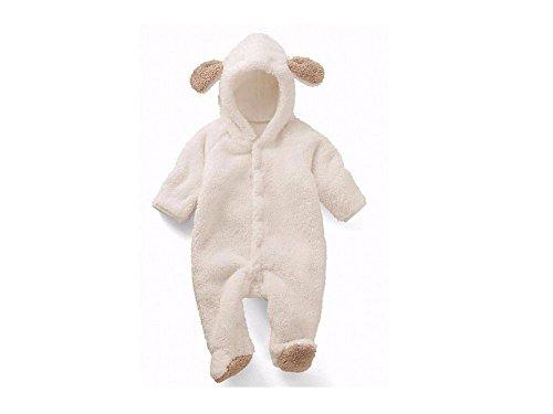 WEISS- TEDDY BÄR* GR. 74 - MIT OHREN BABY (Baby Bären Anzug)