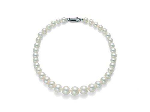 Miluna - Bracciale Miluna filo di perle 4,5 - 5 in oro bianco 18 kt carati