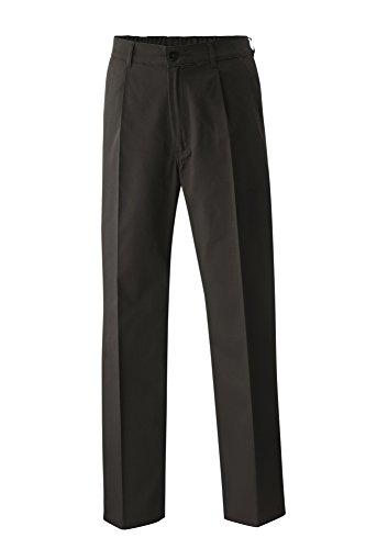 Preisvergleich Produktbild Kochhose Bäckerhose Berufsbekleidung Hose mit Gummizug Schwarz in Gr. 48 = Damen 40