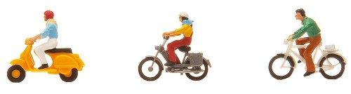 Faller FA151079 - Fahrrad- und Mopedfahrer