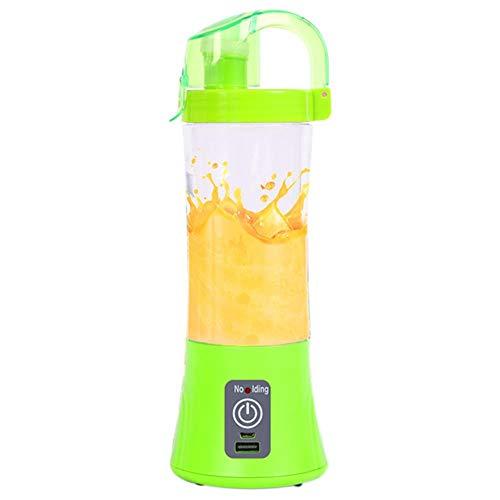 lili 380ml Portable Blender juicer Cup USB Rechargeable Electric Automatic Vegetable Fruit Citrus orange Juice Maker Cup Mixer Bottle,Green (Green Citrus Juicer)