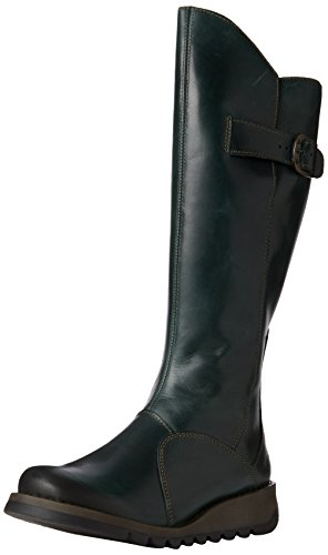 Fly London Mol 2 - Bottes Grises Femme Verte (essence 017)