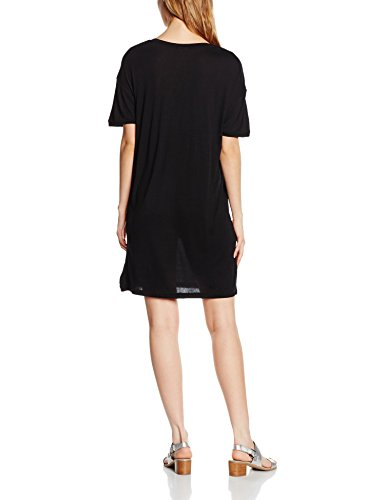 SELECTED FEMME Sfelva Ss Tee Dress, Robe Femme Schwarz (Black)