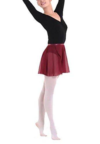 Hoerev Erwachsene schiere Wrap Skirt Ballett Rock Ballett Tanz Dancewear