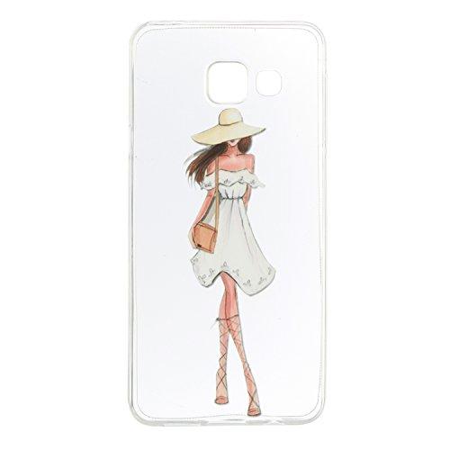 Qiaogle Téléphone Coque - Soft TPU Silicone Housse Coque Etui Case Cover pour Apple iPhone 5 / 5G / 5S / 5SE (4.0 Pouce) - HX39 / Couple mouse HX42 / Model girl