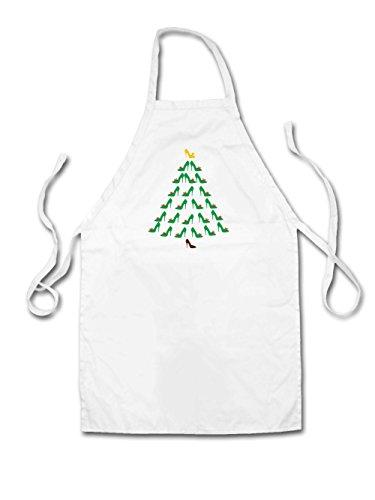 Schuh-Weihnachtsbaum - Unisex Schürzen Passend Für Erwachsene - Weiß - Eine Größe (Erwachsene Schnee Weiß Schuhe)