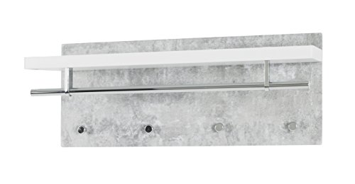Haku möbel 42617 armadio, metallo, bianco cemento cromo, 26 x 75 x 30 cm