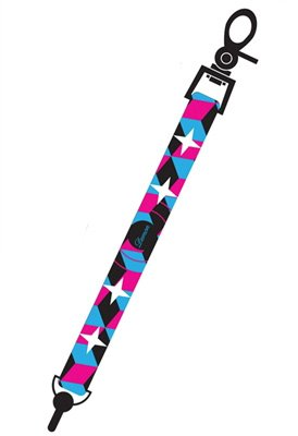 Demon Leash Rock Star - Snowboardleash black/blue/pink