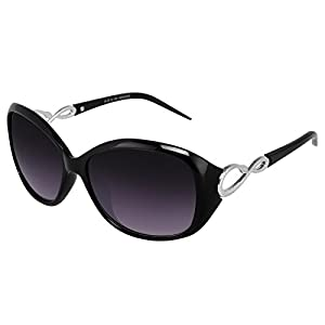 Silver Kartz Oval Unisex Sunglasses(Wy053 40 Black, Violet)