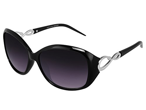 Silver Kartz Oval Unisex Sunglasses(Wy053|40|Black, Violet)