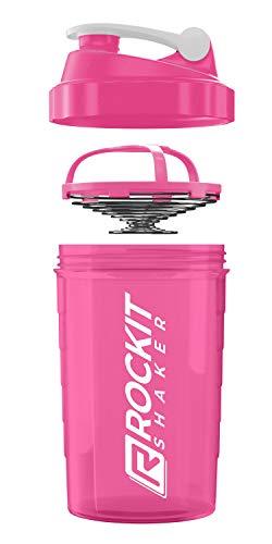 Premium Protein Shaker 750ml - erstklassige Mischfunktion mit Infusion Sieb - für super cremige Fitness Eiweiß Shakes, Proteinshake Becher - Made in Germany | BPA frei Pink