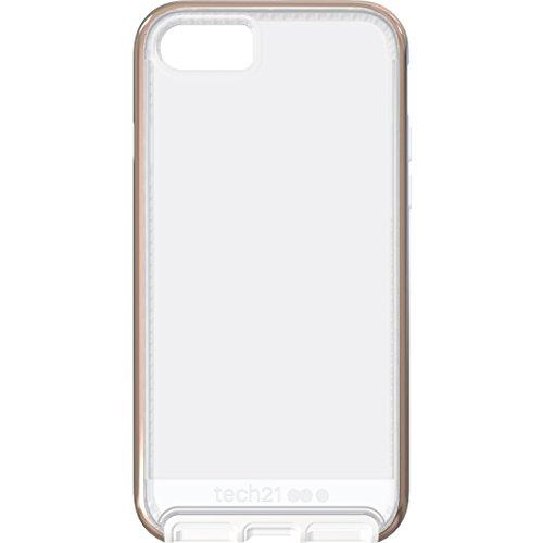 Tech21 Evo Elite Hülle Widerstandsfähig Schlagfest mit FlexShock Aufprallschutz für Apple iPhone 7 - Roségold Poliert