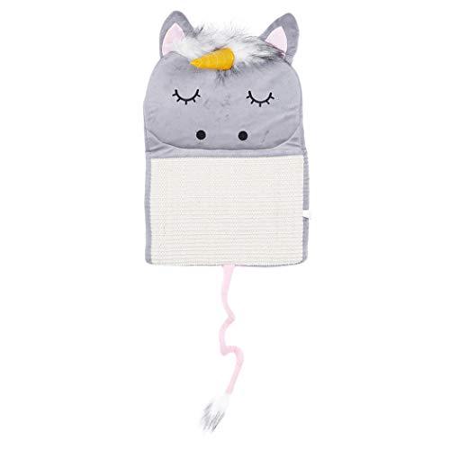 Scratcher Bett Matte Pad Katze Kratzbrett Kratzbaum Kätzchen Schleifen Nagel Hängen Cat Scratcher Sisal Spielzeug (Grau) ()