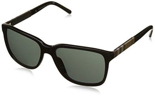 Für Burberry Herren Von Sonnenbrille (BURBERRY Herren Sonnenbrille BE4181, Schwarz (Black 300187), One size (Herstellergröße: 58))