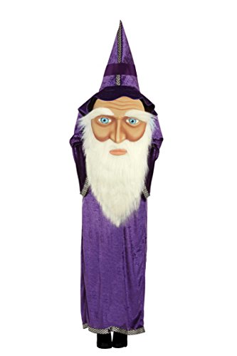 Adult's Halloween Jumbo Wizard Witch Face Fancy Dress Costume -One Size