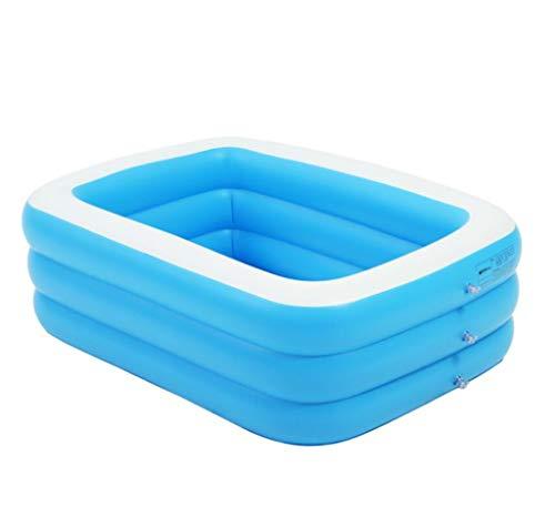 BYCDD Faltbare Aufblasbare Badewanne, Tragbar Umweltschutz PVC Verdickungs Tränken der Erwachsenengröße Komfortabel Badewannensitz Whirlpool für zu Hause,Blue_130X85X50CM