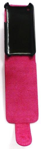Emartbuy® Apple Iphone 3G / 3Gs Shimmer Finish Flip Case / Couverture / Pochette Rose Chaud