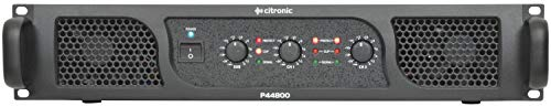 Citronic P44800 2.1 Verkabelt Schwarz - Audioverstärker (2.1 Kanäle, 1600 W, 0,04%, 86 dB, 6.35mm, 483 mm) 4 Ohm Auto-subs