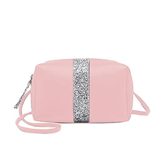 r Allzweck Reißverschluss Handtaschen Reiserucksack Tagesrucksack Rucksack Schulrucksack Schultaschen Daypack Schulrucksack Umhängetasche für Schule Reise Arbeit (Pink, One Size) ()