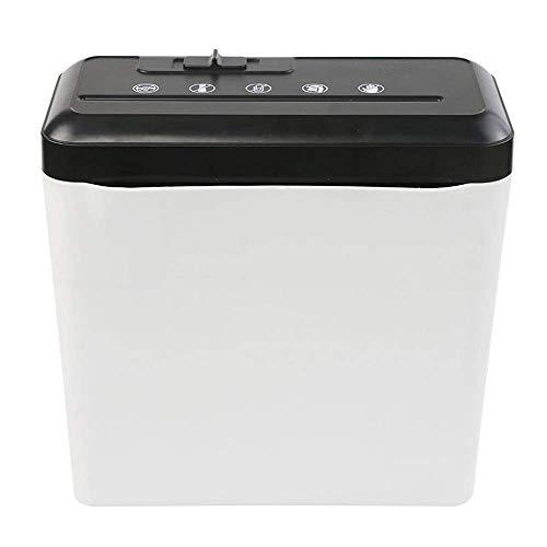 MIXII2402 Uso domestico e ufficio - Taglio incrociato (4X30mm), carte di credito Shreds, secchiello for rifiuti 7L , Distruggidocumenti a basso rumore for ufficio domestico - Facile da usare