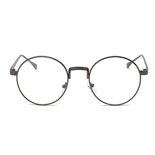 Yefree Männer Frauen Myopie Gläser Runde Rahmen Retro Plain Brille -0,5 bis -6,00