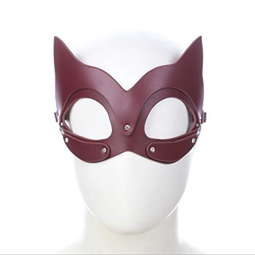 e Catwoman, braune Catwoman-Form-Augenmaske-Paar-Flirt-Produkt-Erwachsen-Spiel-Spielwaren-Männer und Frauen-Stadiums-Maske Jeans (Color : Brown) ()