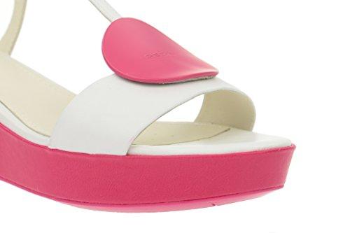 Geox Geox Nouvelle - Damen Sandalette - weiß pink, Sandali donna Bianco (bianco)